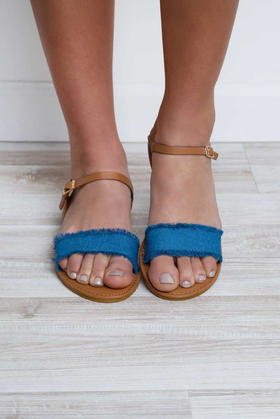 Shoes - Vacation Time Sandals - Denim