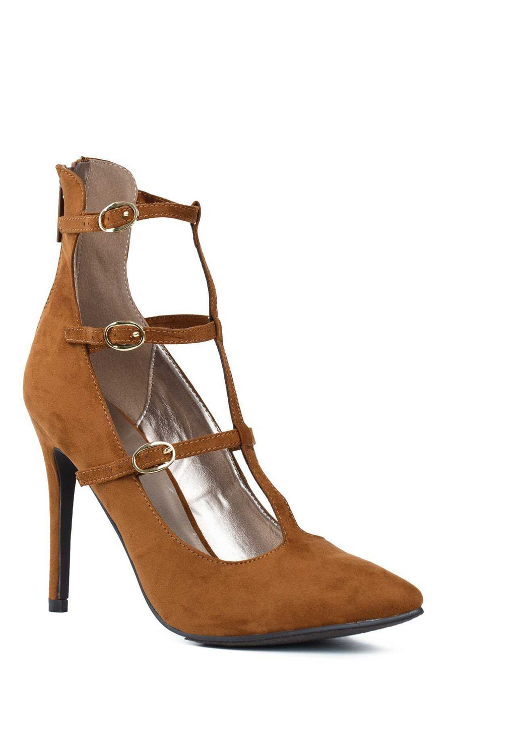 Shoes - Viola Heels - Tan