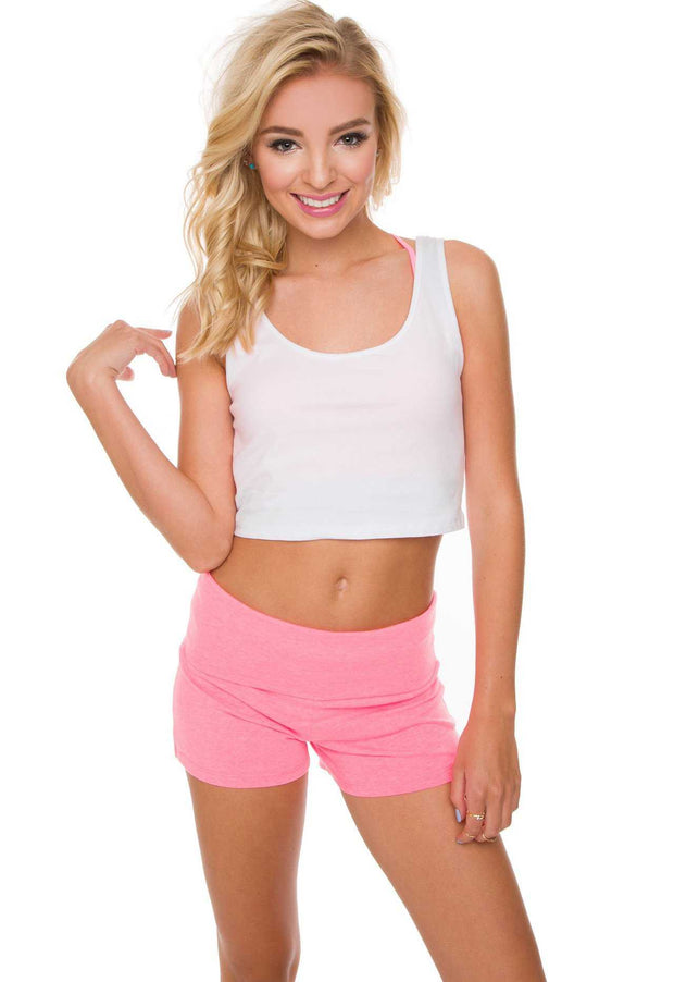 Shorts - Carmen Yoga Shorts - Pink