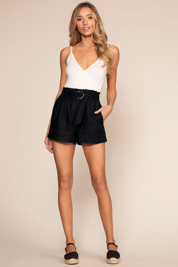 Black Paperbag Shorts