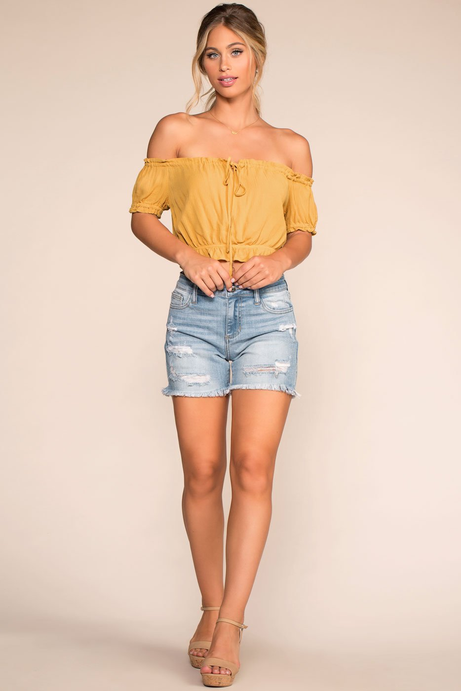 Shorts - Don't Trip Distressed Denim Shorts