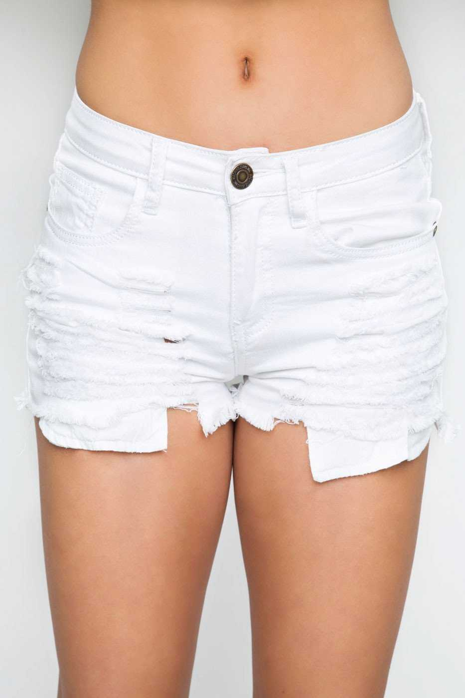 Shorts - Elliana Distressed Shorts