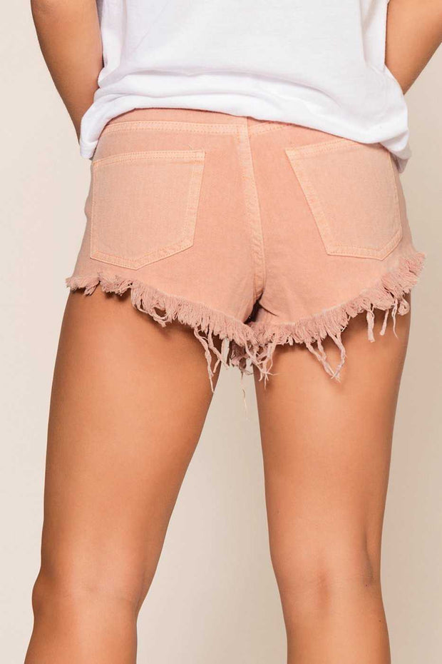 Shorts - Laguna Distressed Shorts - Pink