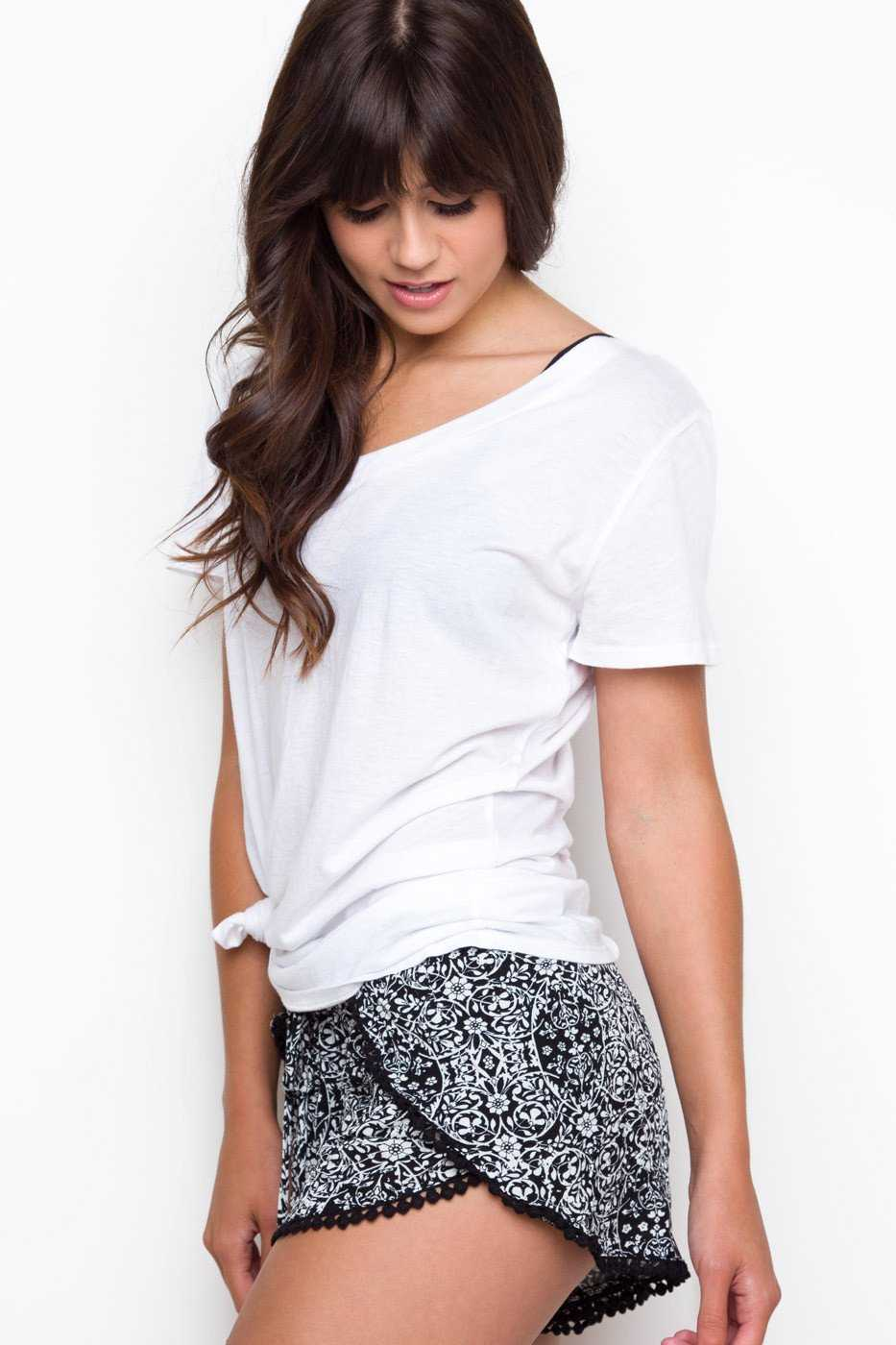 Shorts - Lottie Pattern Shorts - Black