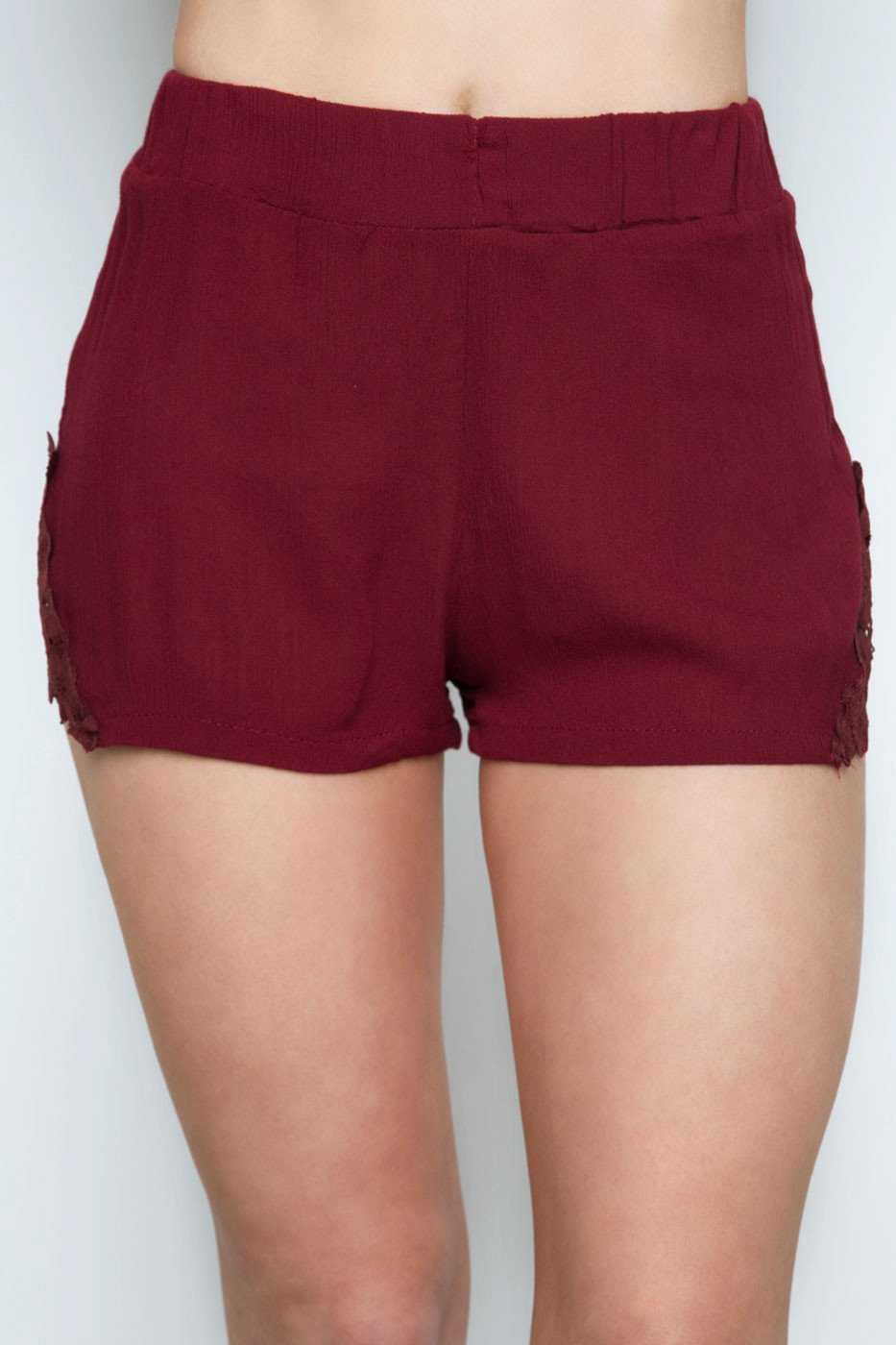 Shorts - New Dawn Shorts - Burgundy