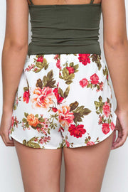Shorts - Oh Darling Floral Shorts - White
