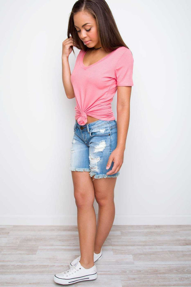Shorts - Social Distressed Boyfriend Shorts