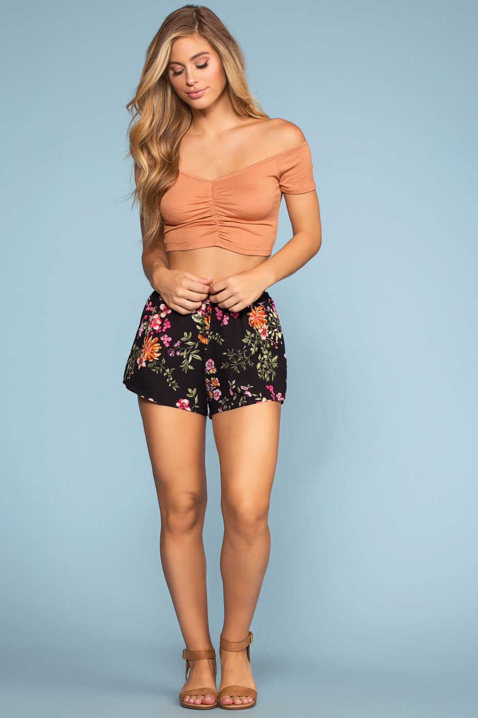 Shorts - Sunday Blossom Floral Shorts - Black