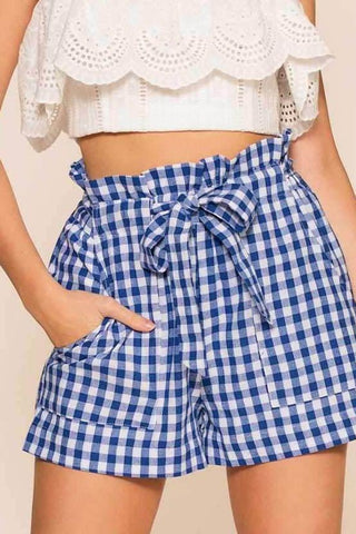 Checkerboard White And Black Skort