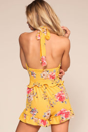 Shorts - Sunshine Yellow Floral Shorts
