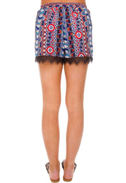 Shorts - Tonya Lace Shorts - Red