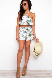 Shorts - Tropic Sunset Shorts - White