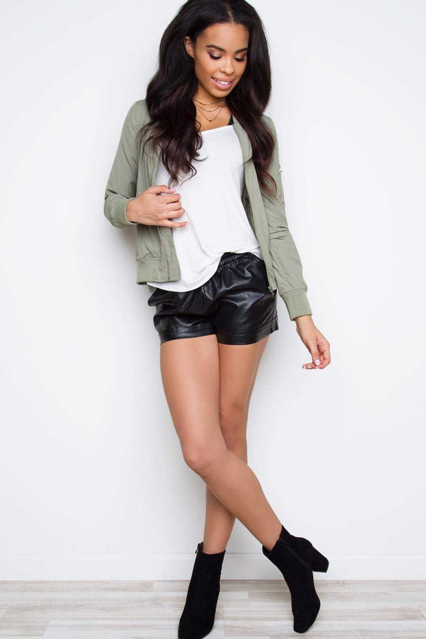 Shorts - Uptown Funk Pleather Shorts