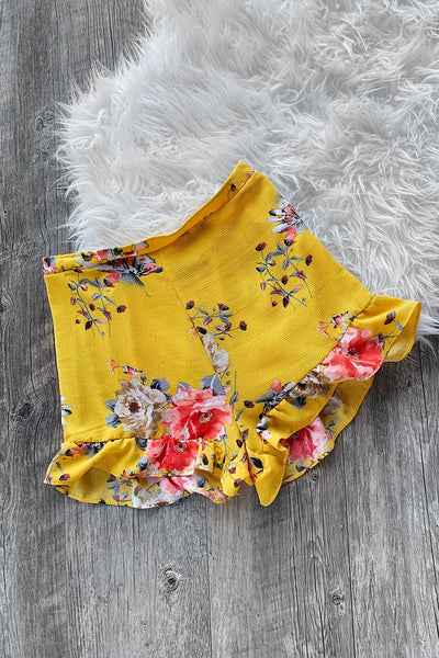 Sunshine Yellow Floral Shorts | Shop Priceless