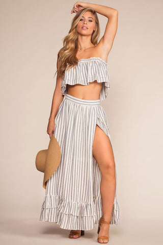 Coney Island Striped Wrap Shorts