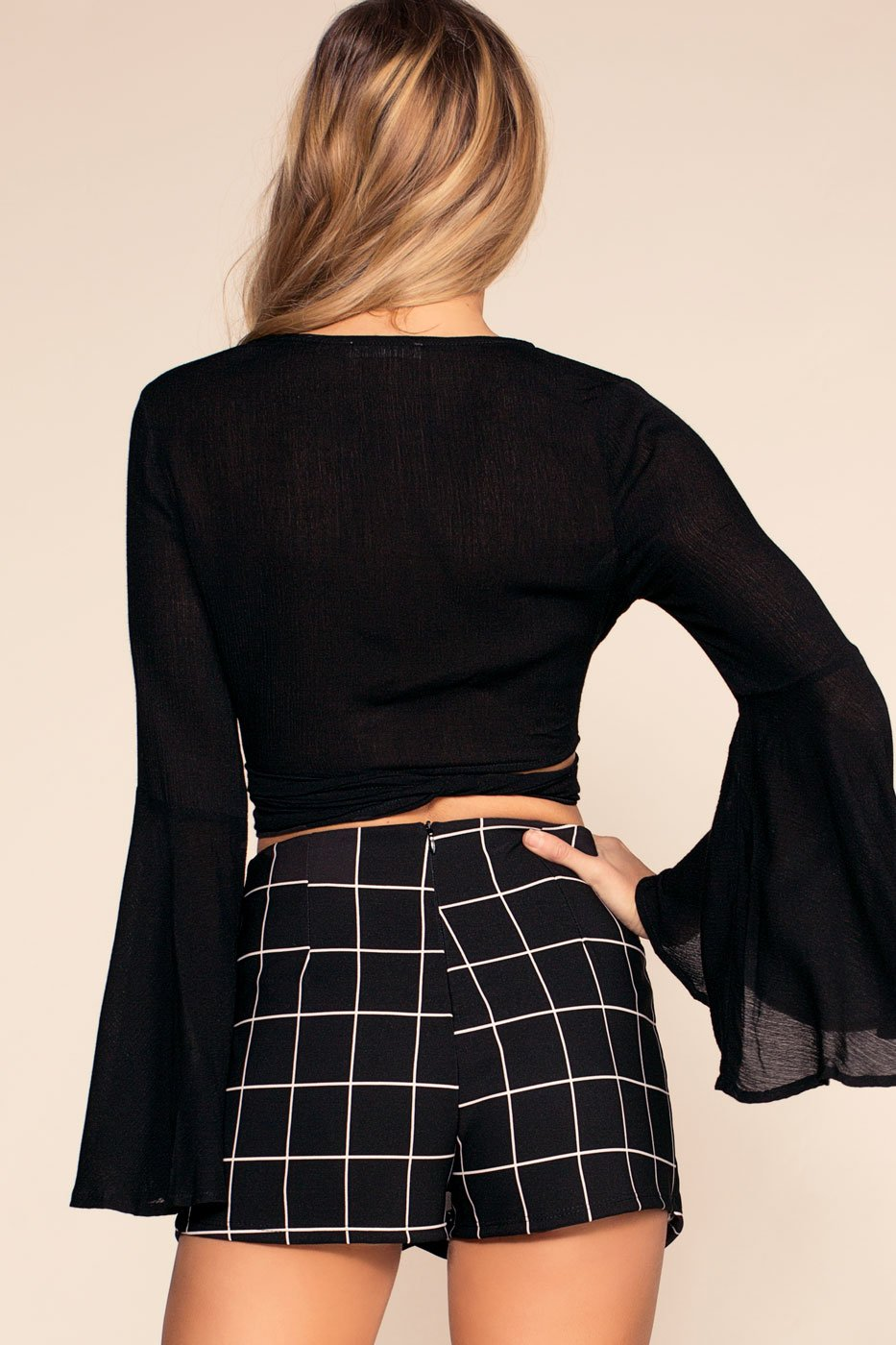 Black Envelope Skort