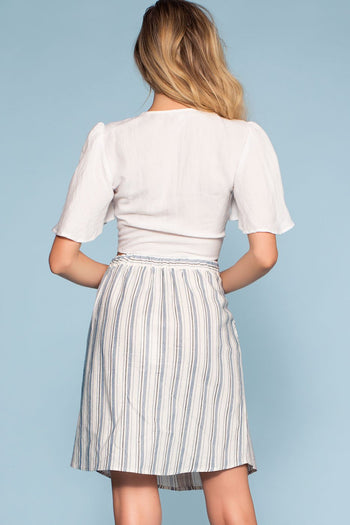 Skirts - Cassio Stripe Button-Up Mini Skirt