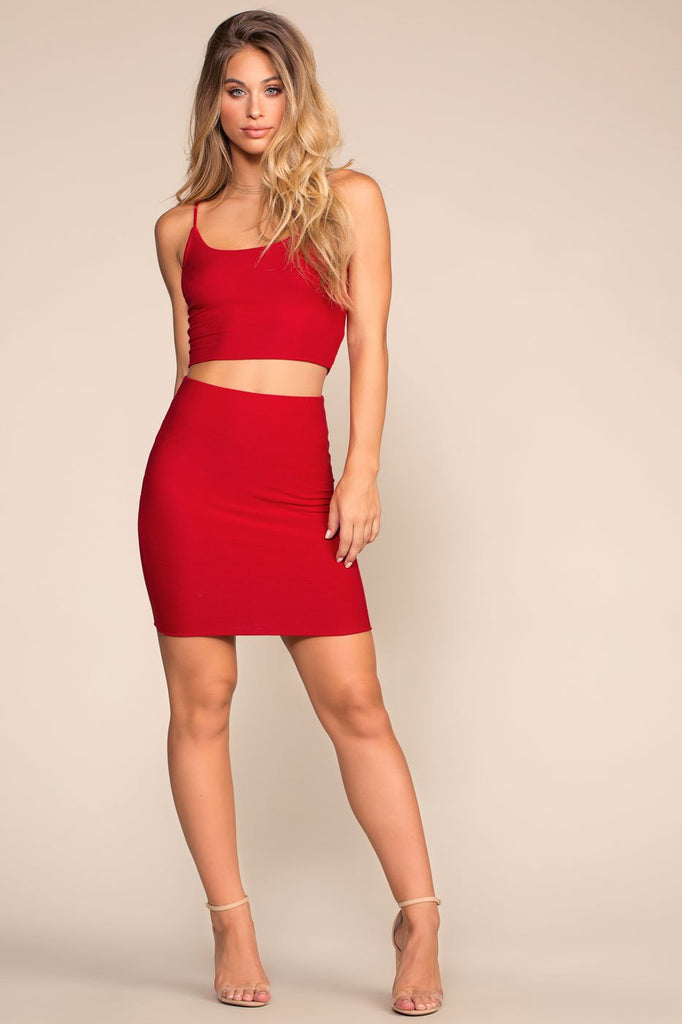 Skirts - High Life Pencil Skirt - Red