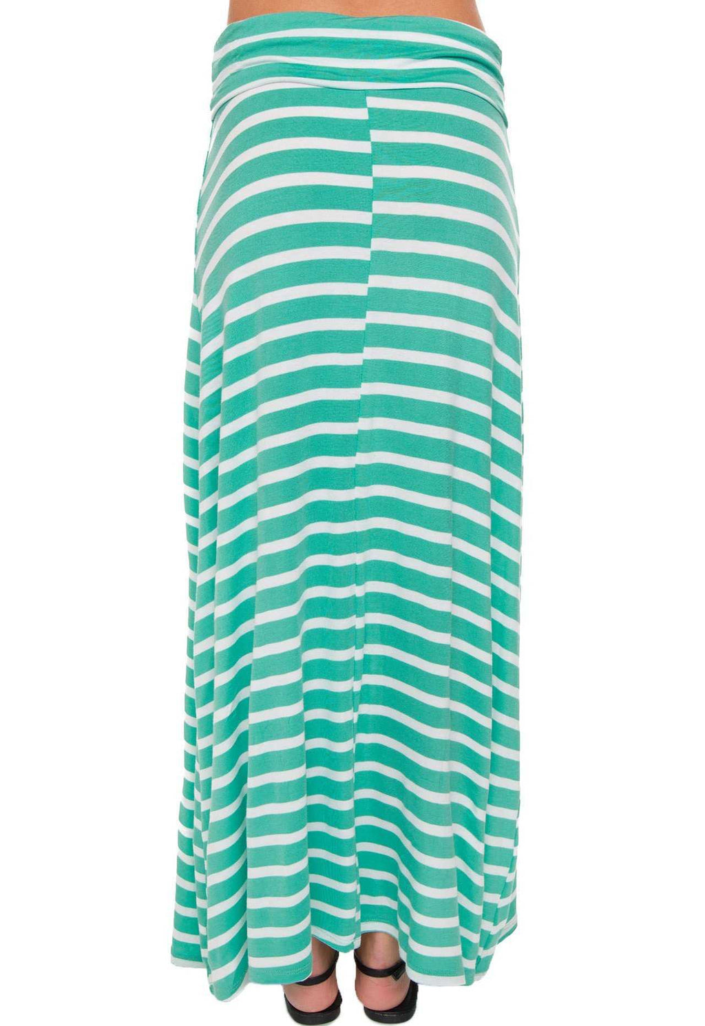 Skirts - Isobel Stripe Maxi Skirt - Mint