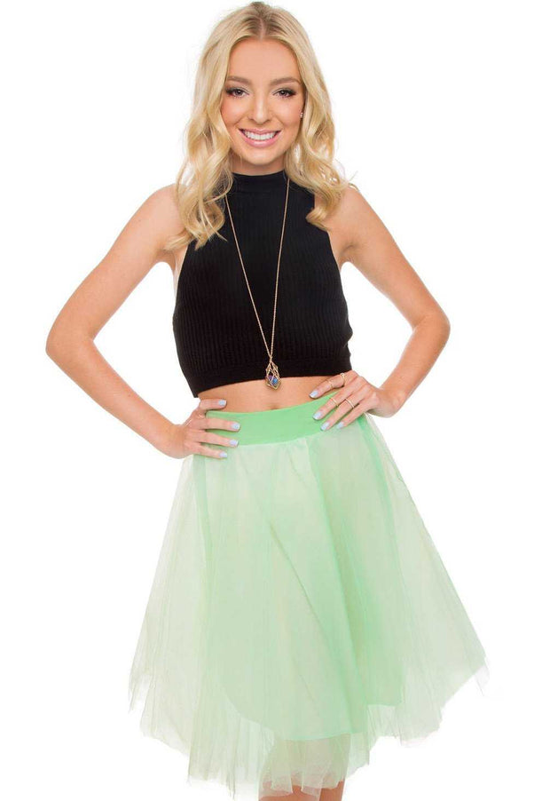 Skirts - Karlie Tulle Skirt - Mint