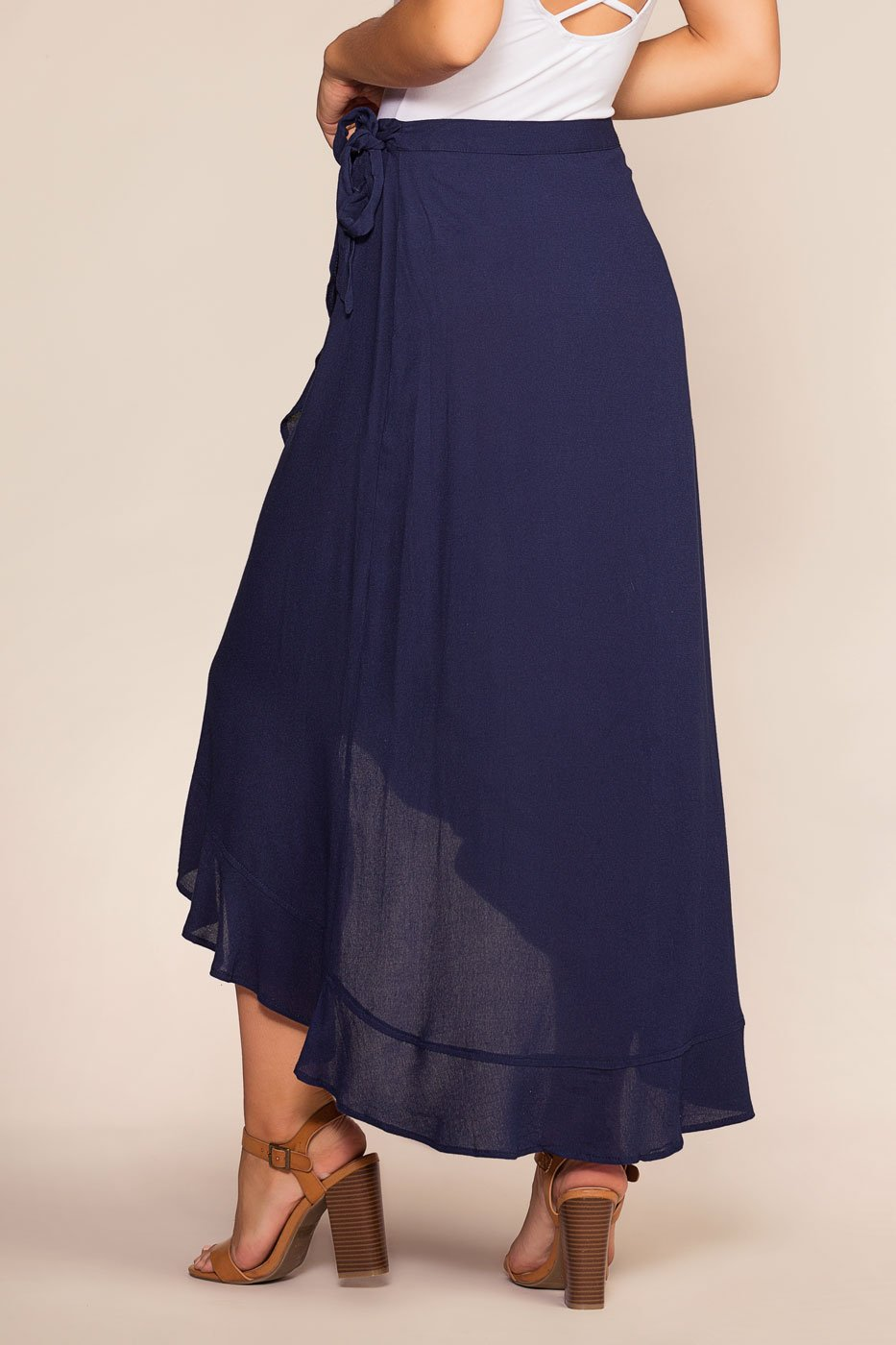 Skirts - Lagoon Wrap Maxi Skirt - Navy