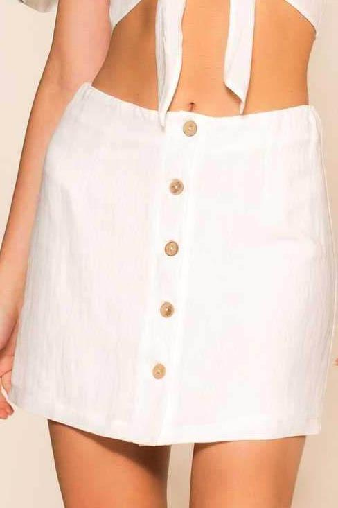 Perfectly Put Skirt - Ivory | Cotton Candy