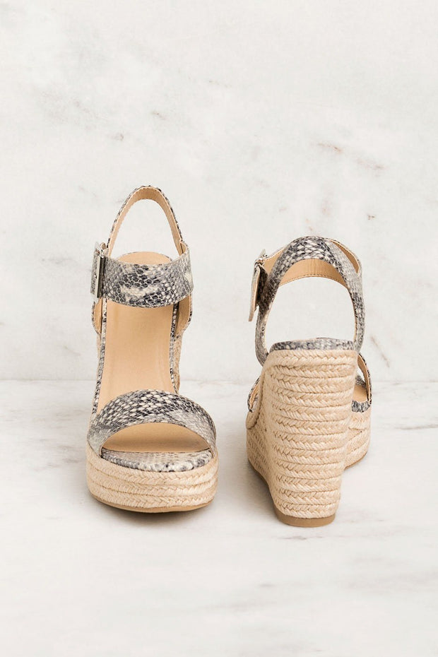 In Your Dreams Snakeskin Wedges | Fortune Dynamic