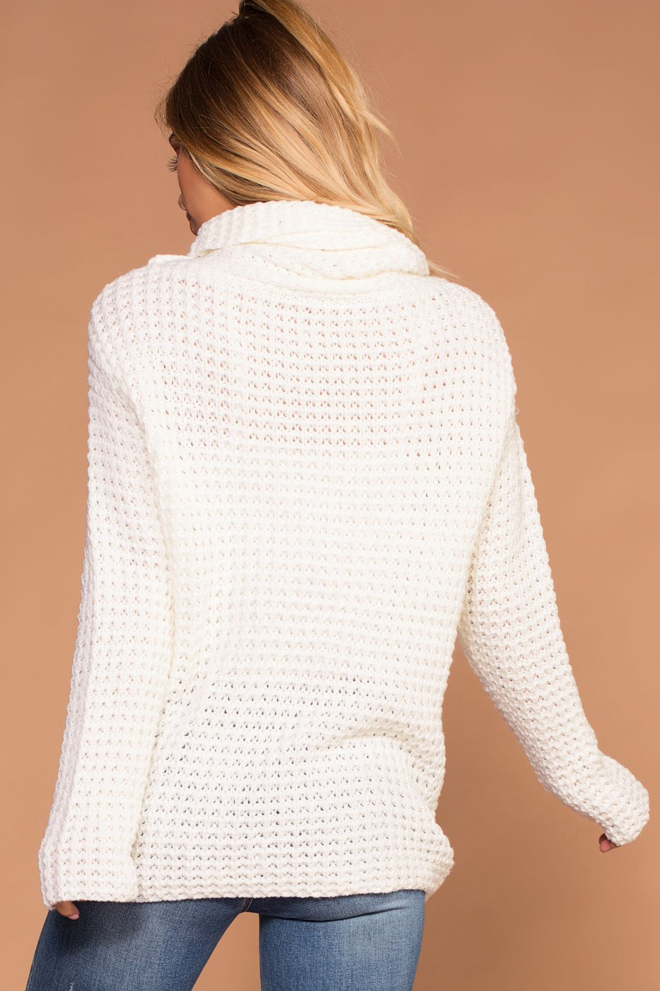 Candy Ivory Button Cowl Sweater – Shop Priceless