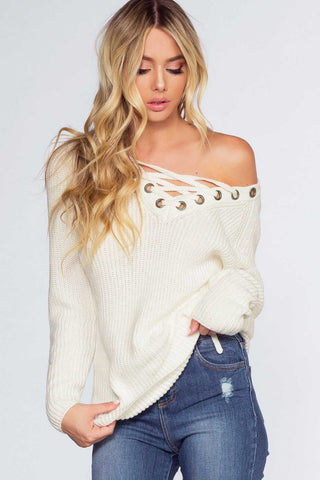 Snap It White Ribbed Long Sleeve Crop Top