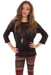 Sweaters - Life Of Luxury Lace Sweater - Black