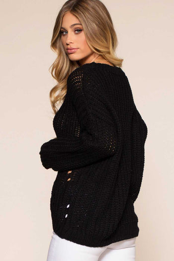 Sweaters - Riley Sweater - Black