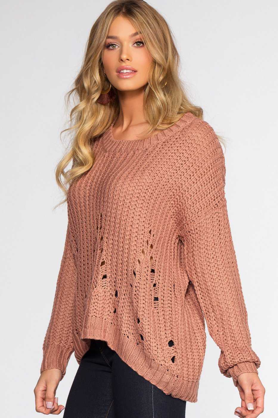 Sweaters - Riley Sweater - Mauve