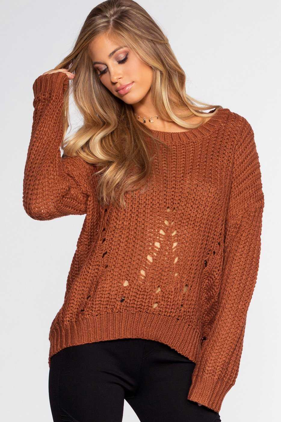 Sweaters - Riley Sweater - Rust
