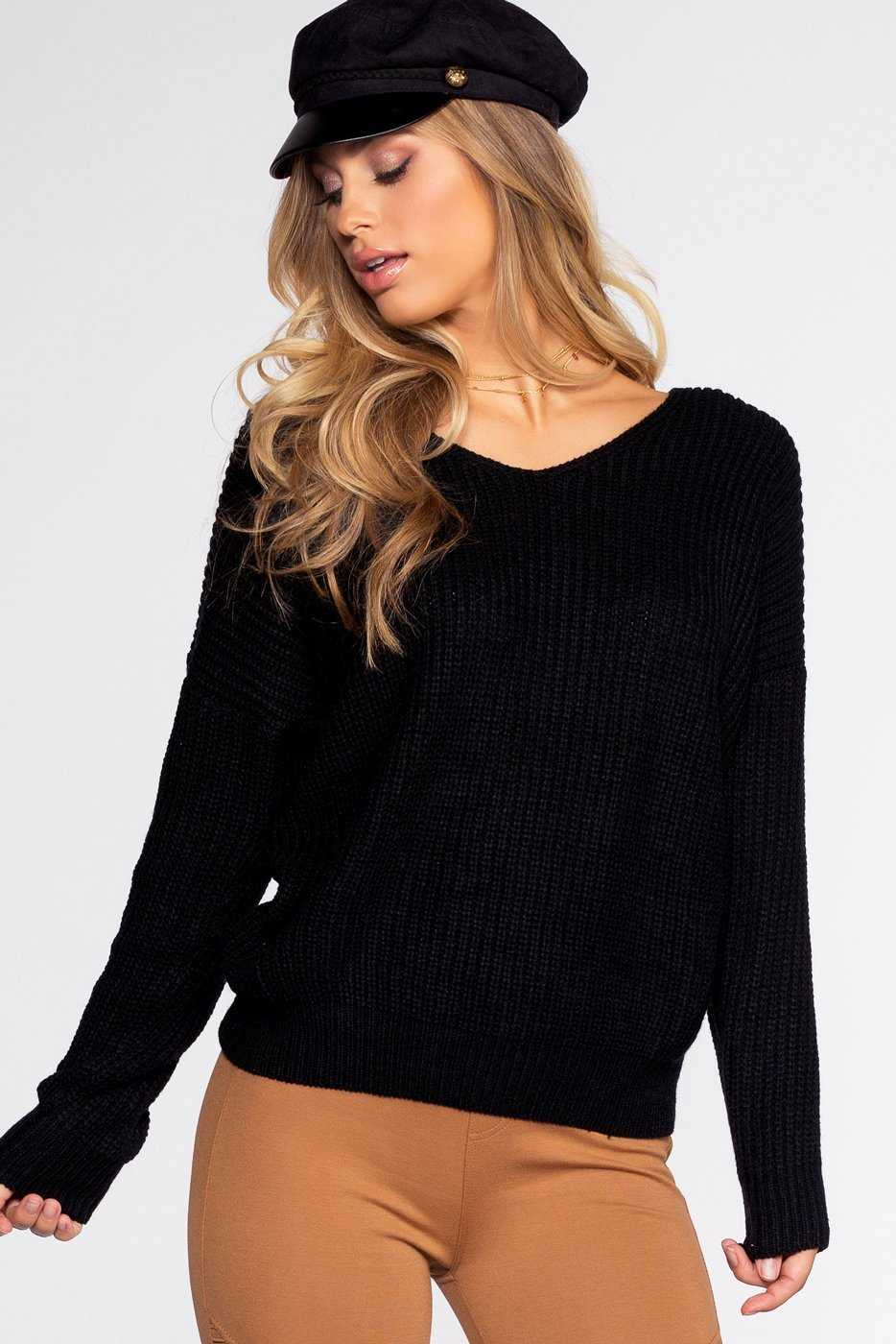 Sweaters - Twist And Shout Sweater - Black
