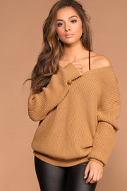 Sweaters - Twist And Shout Sweater - Camel
