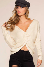 Sweaters - Twist And Shout Sweater - Ivory