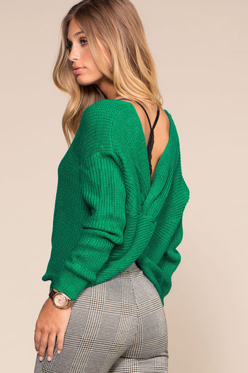 Sweaters - Twist And Shout Sweater - Kelly Green
