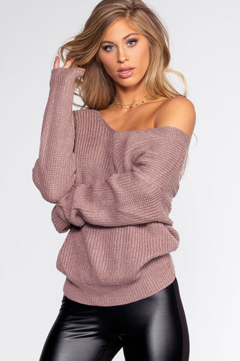 Sweaters - Twist And Shout Sweater - Lilac