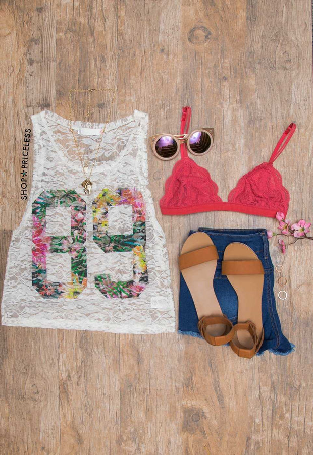 Number 89 Lace Tank Top