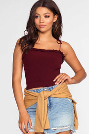 Tops - Ariana Top - Burgundy