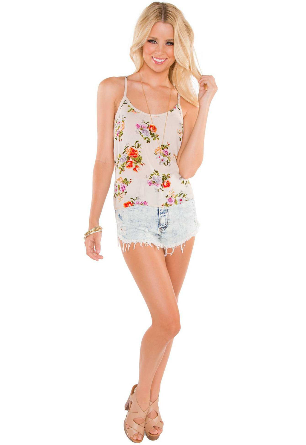 Tops - Artista Floral Top - Ivory