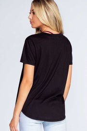 Tops - Austin V-Neck Tee - Black