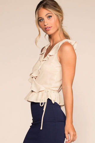 Tops - Bel Air Wrap Top - Cream