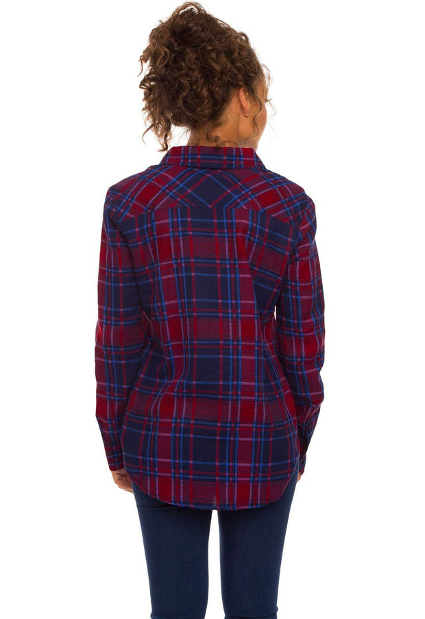 Tops - Beth Plaid Top