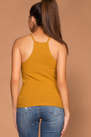 Mustard Ribbed Tank Top