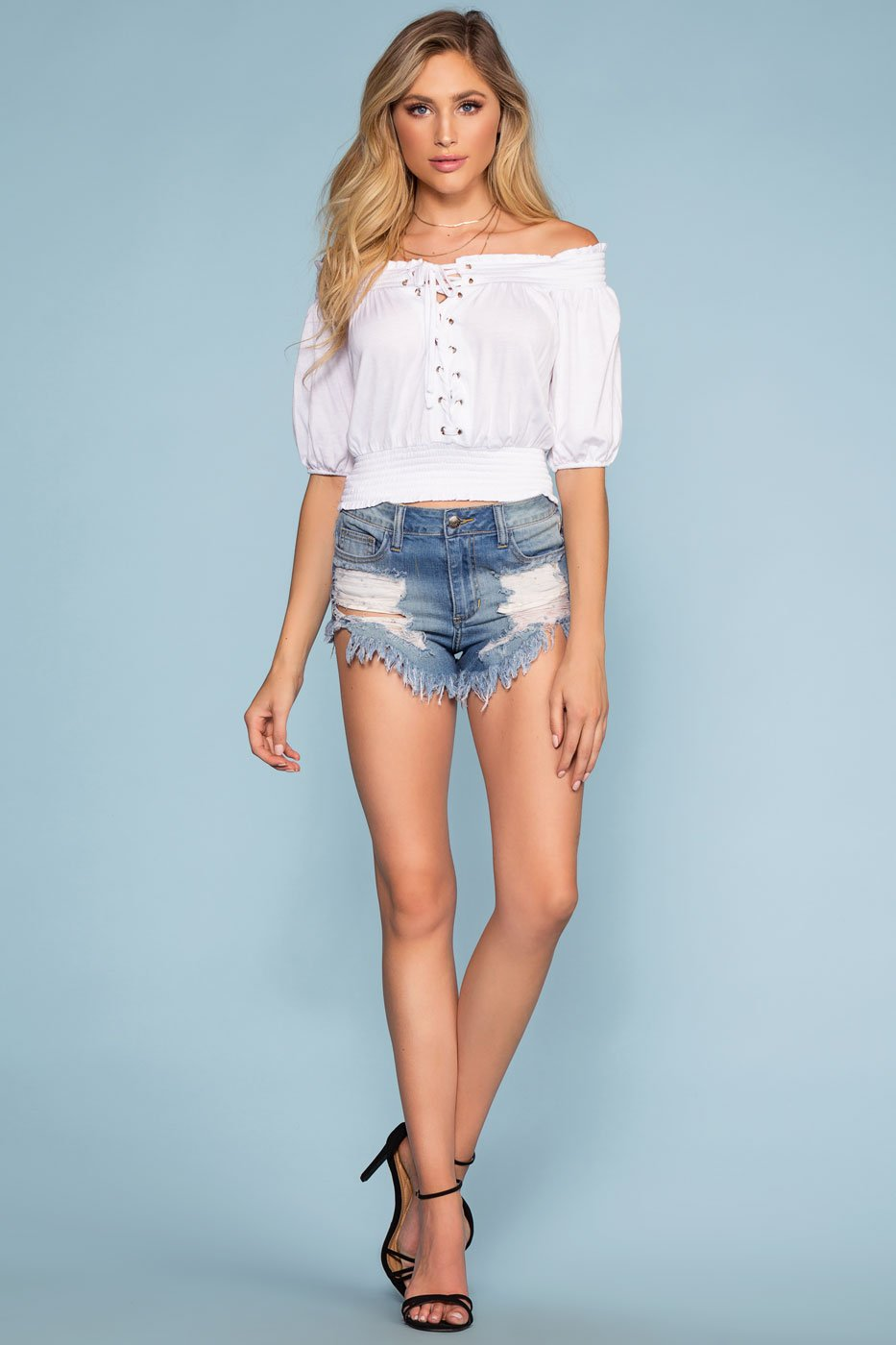 Tops - Beverly Off The Shoulder Top - White