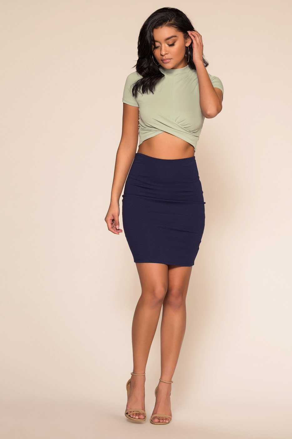 Tops - Blakely Crop Top - Sage