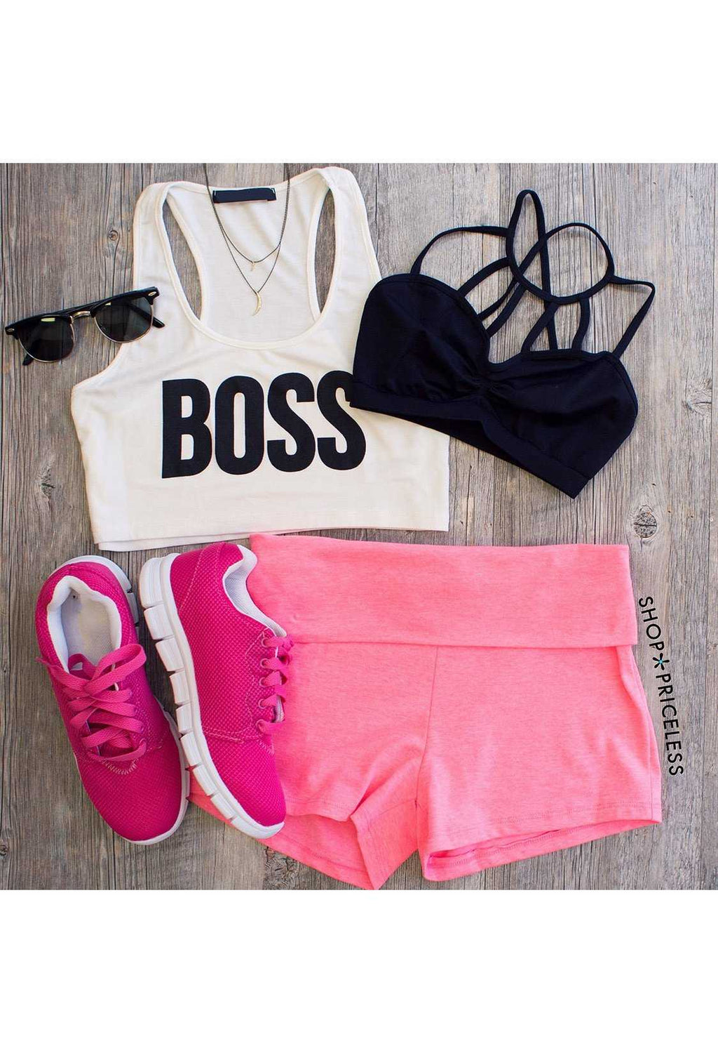 Tops - Boss Crop Top - White
