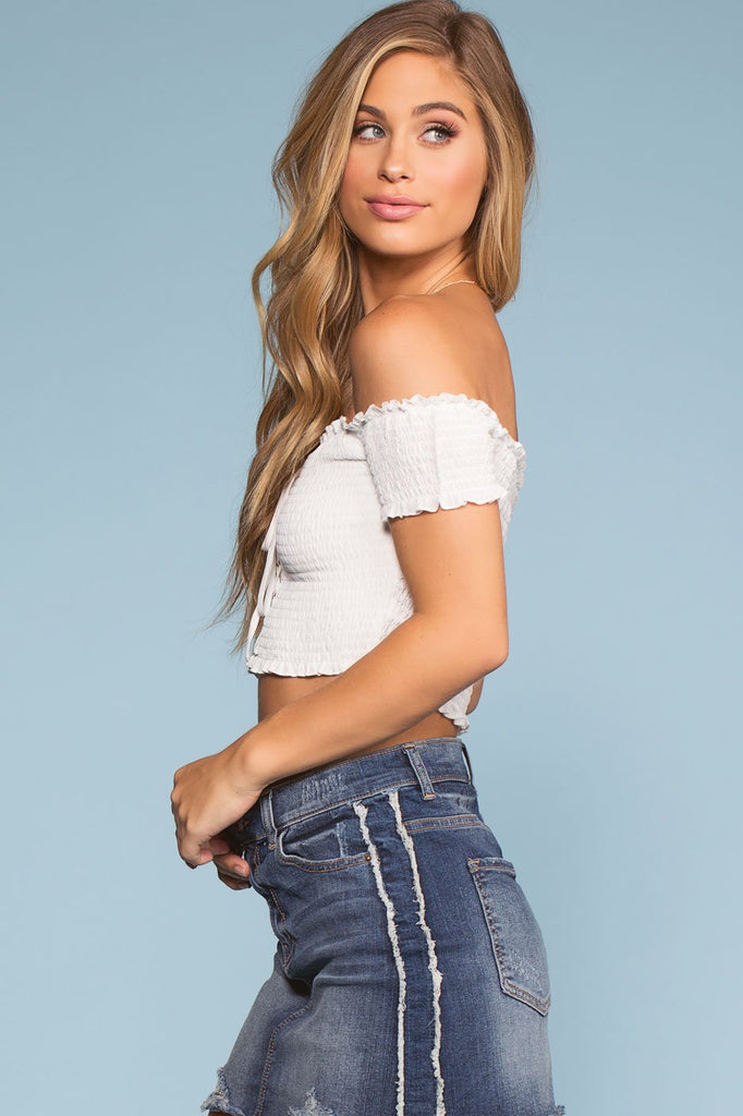Tops - Catch The Sun Off The Shoulder Crop Top
