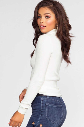 Ivory Turtleneck Sweater